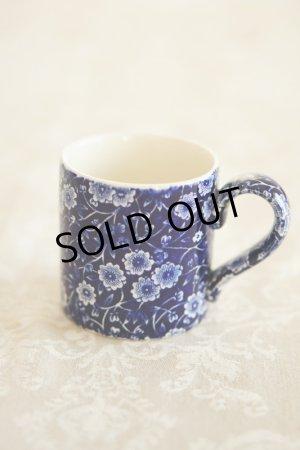 画像1: Burleigh バーレイ ブルー キャリコ マグカップ