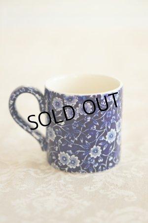 画像2: Burleigh バーレイ ブルー キャリコ マグカップ