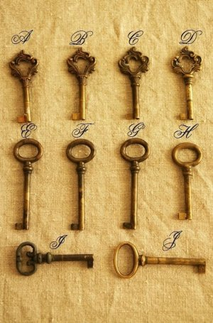 画像1: フランス アンティークキー / key・鍵  ラスト1
